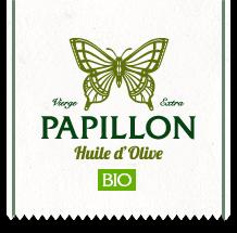 Logo Huile d'olive Papillon