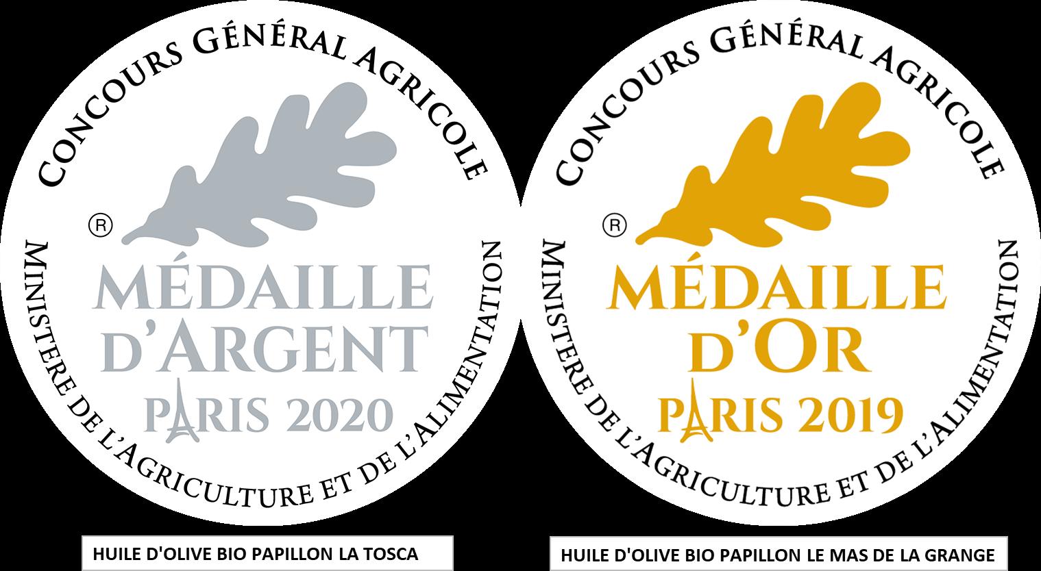Médailles Huile d'Olive Bio Papillon
